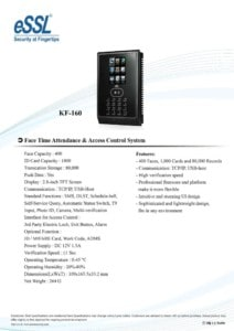 thumbnail of essl Face Recognition Machine KF 160