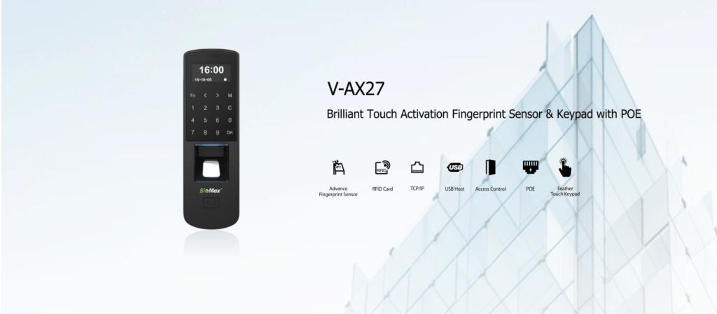 Biometric Attendance machine Biomax V-AX27