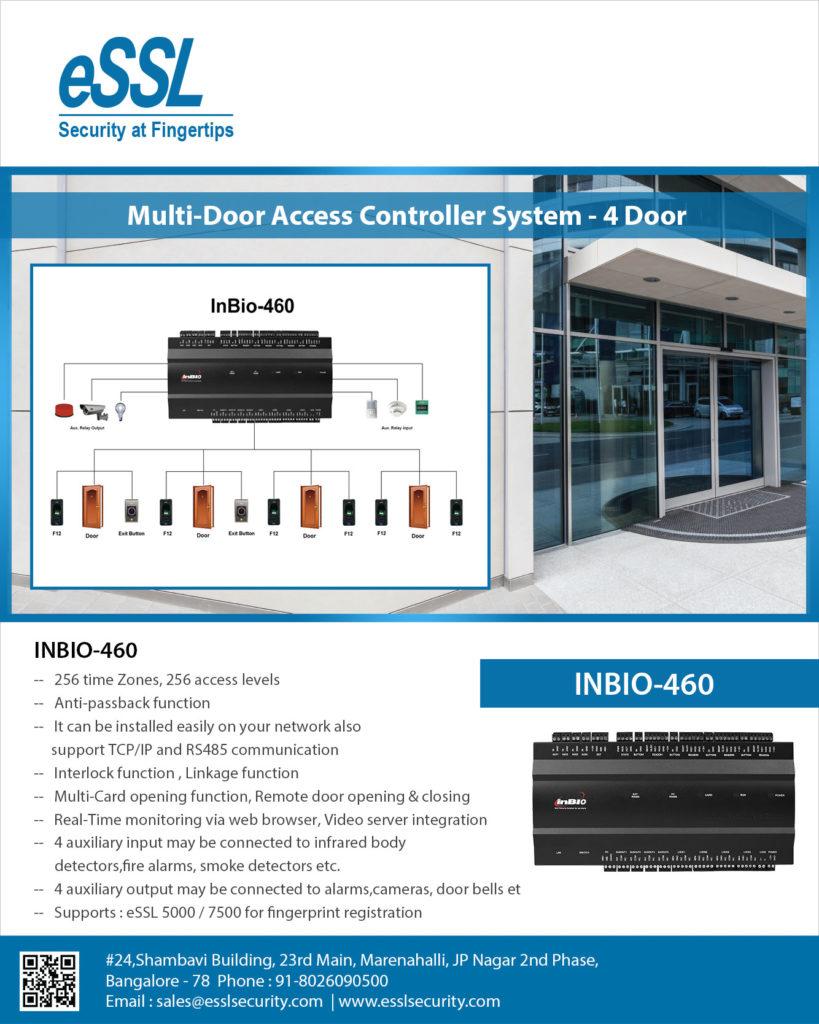 Fingerprint RFID Card based controller inbio460