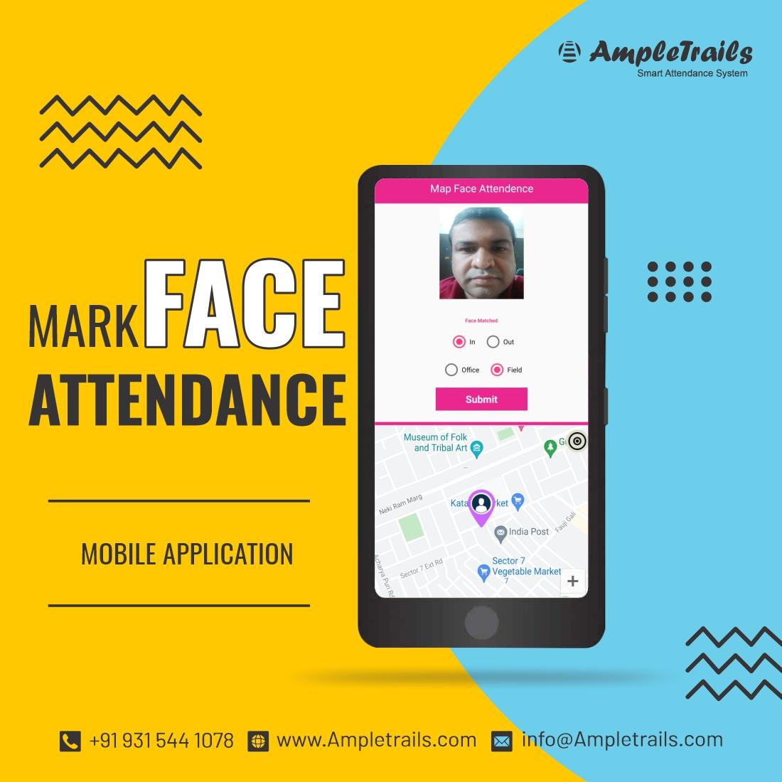mobile based face recognition app for Attendance Management System