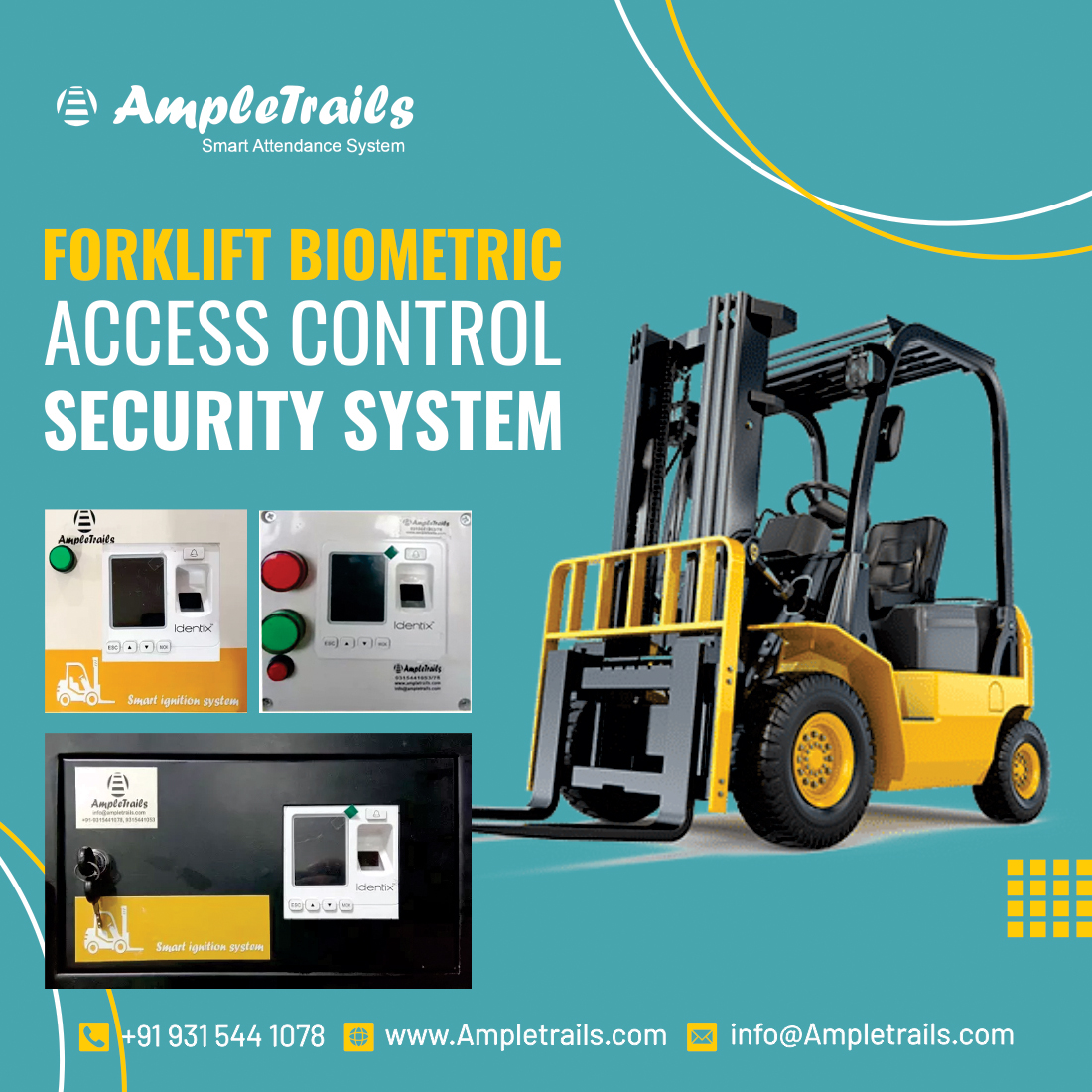 Biometric Access Control system for battery operated stacker