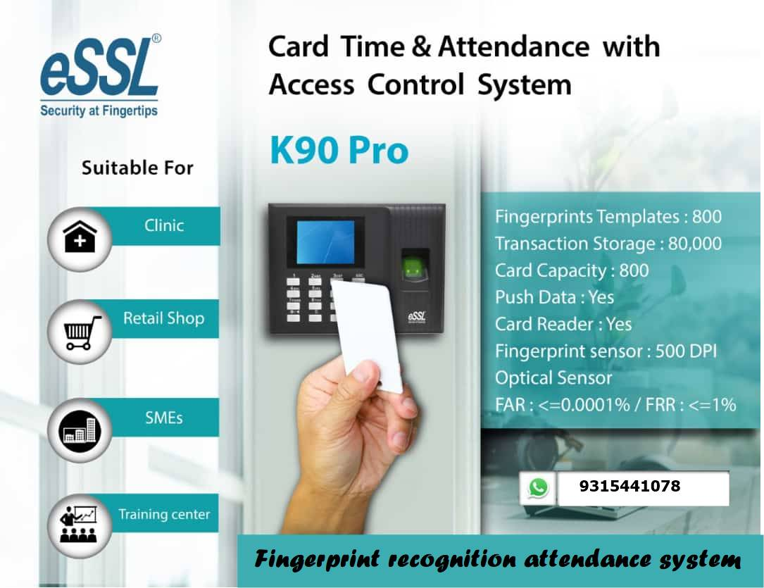 Fingerprint Time Attendance with Access Control System AmpleTrails K90